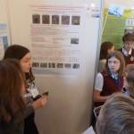 Москва Ионова Надежда на защите своей исследовательской работы