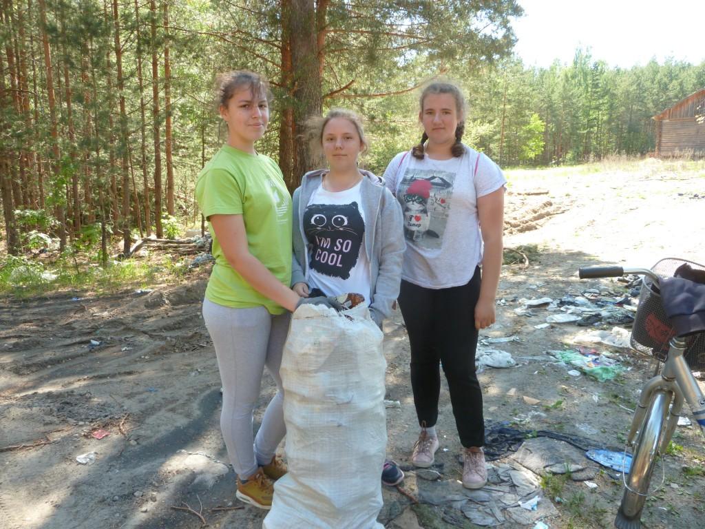 акция по очистке трассы Михайловское-Разнежье